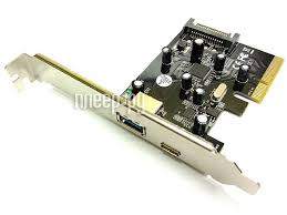<b>Контроллер Orient AM-31U2PE-AC PCI-Ex</b> - 2ext x USB 3.1 Gen2 ...