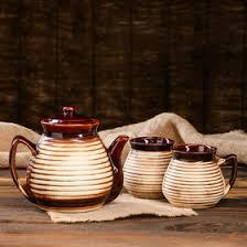 "<b>Чайный набор</b> ""Афина"", 3 предмета: чайник 1 <b>л</b>, чашки <b>0.3 л</b> ..."