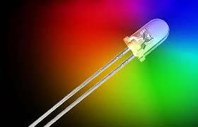 10 x 3mm or <b>5mm LED</b> with Metal Chrome <b>Holder</b> and resistor <b>30</b> ...
