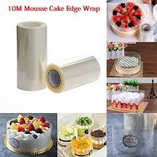 <b>10m</b>/roll <b>Transparent Mousse</b> Surrounding Edge Wrap <b>Cake</b> Collar ...