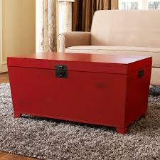 angelohome red pyramid trunk coffee table chest coffee table multifunction furniture