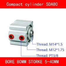 CE ISO <b>SDA20 Cylinder</b> Magnet SDA Series Bore 20mm Stroke <b>5</b> ...