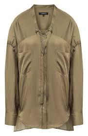 Женская хаки <b>блузка BARBARA BUI</b> — купить за 51100 руб. в ...