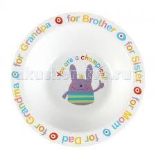 Глубокая <b>тарелка</b> для кормления Rusty-Champion <b>Happy Baby</b> ...
