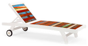 second wind reclaimed wood sun bed multicolored beach style patio furniture beach style patio furniture