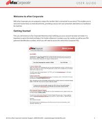 faxing efax corporate a guide for efax corporate users pdf getting started first you will receive an efax corporate welcome email notifying you your account