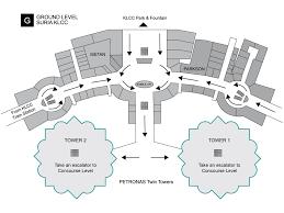 work area twin prime: suria klcc map petronas twin towers