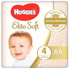 <b>Huggies подгузники Elite</b> Soft 4 (8-14 кг) 66 шт. — купить по ...