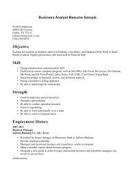 business analyst resume samples  resume sample format
