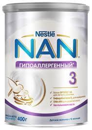 Купить <b>Смесь NAN</b> (Nestlé) <b>Гипоаллергенный 3</b> Optipro (с 12 ...
