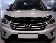 <b>Дефлектор капота</b> Hyundai Creta 2016- темный, <b>SIM</b> Россия
