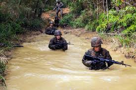 u s department of defense photo essay u s marines go through the jungle warfare training center s endurance course on camp gonsalves okinawa