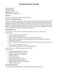 sample resume company secretary cipanewsletter sample resume for secretary valgesto tk