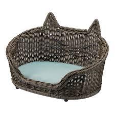 Wicker <b>Cat Pet Bed</b> by Drew Barrymore Flower Home - Walmart.com