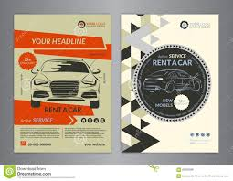 vehicle service flyer template stock vector image  rent a car business flyer template auto service brochure templates royalty stock image