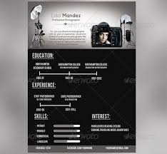 photography template photography resume template
