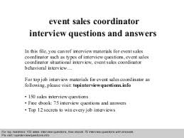 Event Sales | LinkedIn Event sales coordinator interview questions and answers