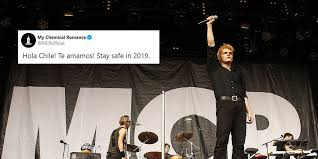 Cryptic <b>My Chemical Romance</b> tweet appears to predict Chile uprising