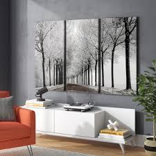<b>3 Piece Winter</b> Inspired Wall Art You'll Love in 2021 | Wayfair