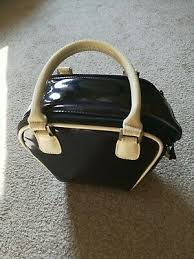 Vintage Black Patent <b>Bowling</b> Bag Design <b>Acme Made Camera</b> ...