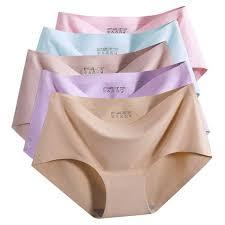 <b>Women Ice Silk</b> Seamless <b>Panties</b> One-piece <b>underwear</b> Sexy ₱49