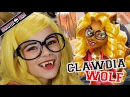 monster high clawdia wolf doll makeup tutorial for or cosplay kittiesmama you