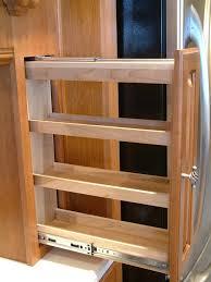 Kitchen Cabinet Slide Out Sliding Spice Rack Plans Fascinating Kitchen Cabinet Pull Out
