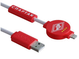 <b>Аксессуар</b> Зарядный кабель Rainbo Спартак Питон Lightning 1m ...