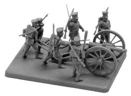 <b>Сборная модель ZVEZDA Французская</b> пешая артиллерия 1812 ...