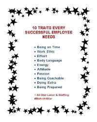 traits that every successful employee needs all star labor 10 traits that every successful employee needs