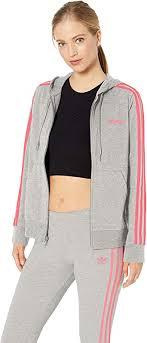 adidas Women's <b>Essentials</b> 3-stripes Single Jersey <b>Full-zip Hoodie</b>