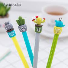 <b>4pcs</b>/<b>lot Cute Creative</b> Cactus Succulent Plants Gel Pens Stationery ...