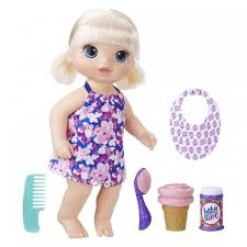 <b>Кукла</b> Hasbro <b>Baby Alive Малышка</b> с мороженым, 31 см, C1090 ...