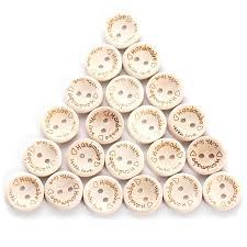 15MM Carved Handmade <b>Love Heart Wooden</b> Buttons <b>24pcs</b>/Bag ...