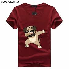 SWENEARO <b>Men's T shirts Fashion</b> Animal Dog Print Hipster Funny ...