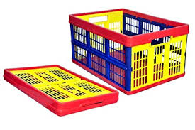 Buy SAY PLASTO <b>Plastic Foldable</b>/<b>Collapsible Crate</b>, 53X37X27 cm ...