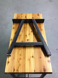 metal dining table base legs bennysbrackets: industrial steel a frame table legs up for sale are handmade pairs of a frame style table legs legs are made from welded  steel angle the top more