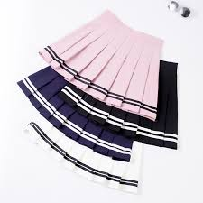 <b>XS</b>-<b>XXL</b> Four Colors <b>High Waist</b> A-Line <b>Women</b> Skirt Striped ...