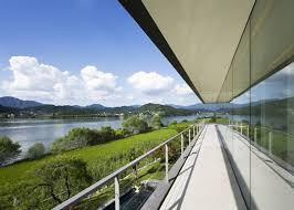 Panoramic View House Plans  Riverfront in Korea   Modern Home Designpanoramic view house plans   jpg