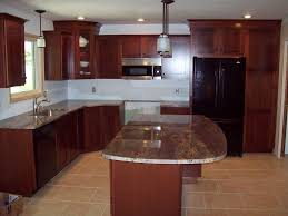 kitchen cabinets with granite countertops: the best color granite for cherry cabinets and hardwood floors