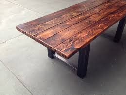 wood kitchen table beautiful:  beautiful wood and metal dining table design middot repurposed