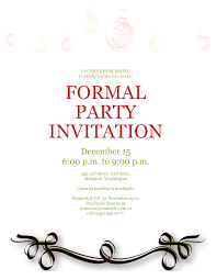 formal party invitation template sample formal party invitation template