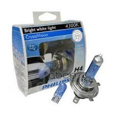 <b>Лампа</b> 12v H4 W5w 60/55w <b>Philips Crystal</b> Vision 2 Шт. Duobox ...