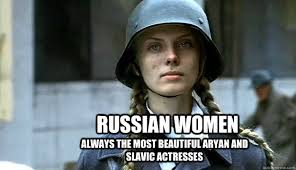 Russian women Always the most beautiful aryan and slavic actresses ... via Relatably.com