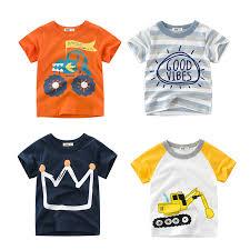 2018 <b>Summer Kids</b> Boys <b>T Shirt</b> Crown Print Short Sleeve Baby Girls ...
