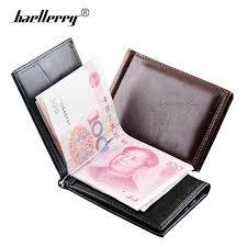Luxury Leather Money Clip <b>Wallet Men Slim Billfold</b> Magnetic <b>Men</b> ...