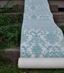 niches latini bathroom ajpg d a: ive always dreamed of having a flocked wallpaper bathroom vintage wallpaper damask blue