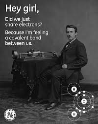 GE Creates Cheesy 'Hey Girl' Thomas Edison-Inspired Memes ... via Relatably.com