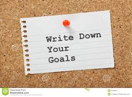 whats your goal stock photo image 40790570 write down your goals royalty stock photography