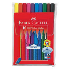 <b>Faber</b>-<b>Castell</b> Набор <b>фломастеров Grip</b>, <b>10</b> цветов (155310)